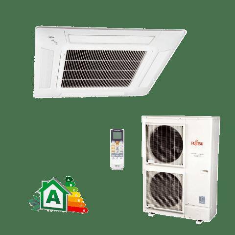 Conjunto-Ar-Condicionado-Split-Cassete-Inverter-Fujitsu-42000-Btus-Quente-Frio-220v-AUBG45LRLA-AOBG45LBTA