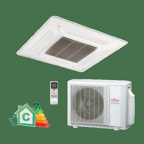 Conjunto-Ar-Condicionado-Split-Cassete-Inverter-Fujitsu-23000-Btus-Quente-Frio-220v-AUBA24LBL-AOBA24LALL