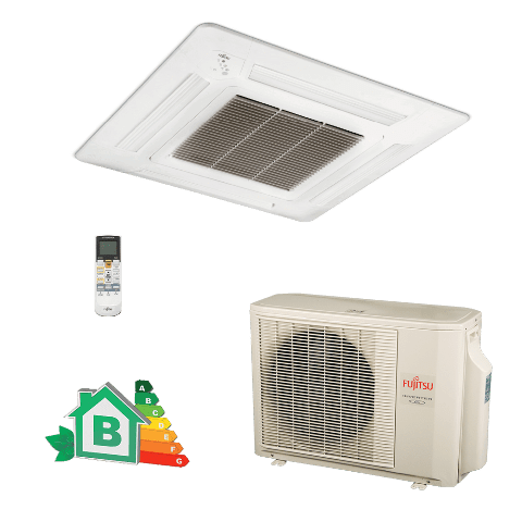 Conjunto-Ar-Condicionado-Split-Cassete-Inverter-Fujitsu-18000-Btus-Quente-Frio-220v-AUBF18LAL-AOBA18LALL