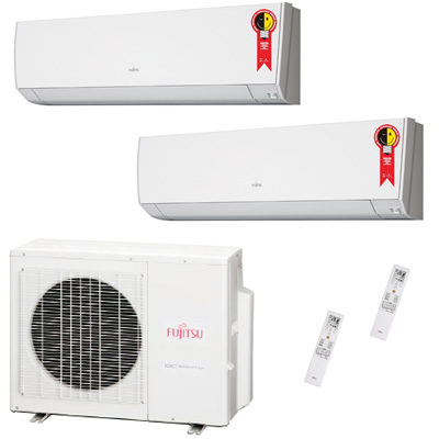 Ar Condicionado Bi Split Inverter fujitsu 24000 Btus Quente e Frio