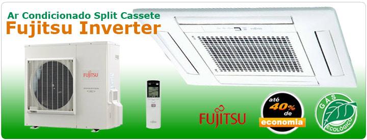 Ar Condicionado Split Cassete Fujitsu Inverter - Gás Ecológico R410A