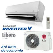 Ar Condicionado Split LG Inverter Libero R 8.500 BTU Quente e Frio