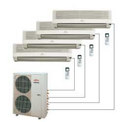 Ar condicionado multi quadri split hi wall fujitsu inverter