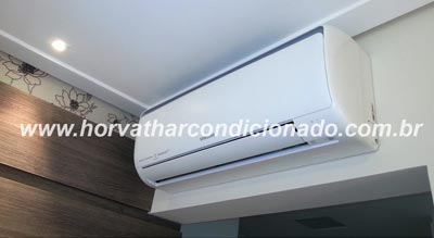 Instalação de ar condicionado na parede