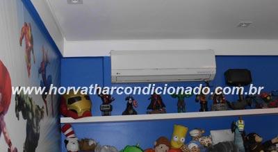 Instalação da condensadora na varanda